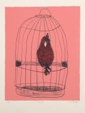 BASIL HADLEY (1940-2006) Bird 1991 screenprint 16/50