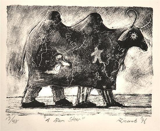 GEOFF RICARDO (BORN 1964) A Bum Steer 1996 lithograph 19/48