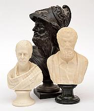 A COLLECTION OF GRAND TOUR STYLE BUSTS