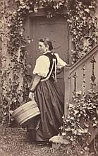 ADOLPHE BRAUN (FRENCH, 1812-1877) Costumes De Suisse 1890 albumen print on original mount