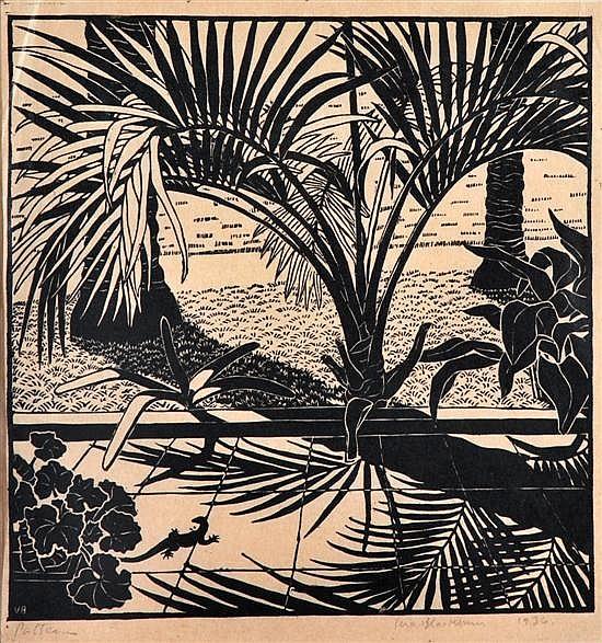 Vera Blackburn (1911-1991) Pattern 1936 linocut