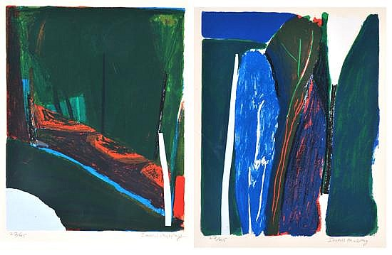Idris Murphy (born 1949) Two Landscapes coloured screenprint (2) 27/45