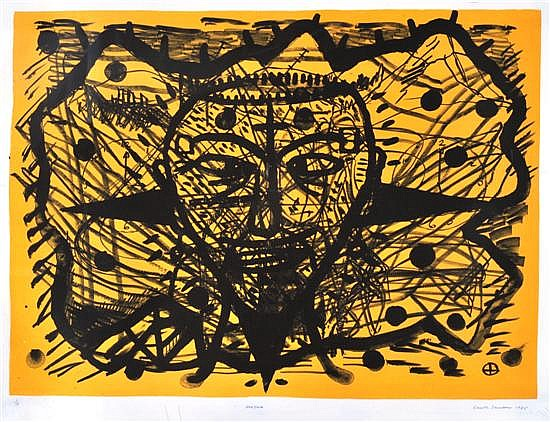 Gareth Sansom (born 1939) Voo Doo 1985 lithograph 1/15