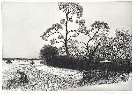 Francis Robert Kelly (American, born 1927) Crossroads 1974 etching 2/100