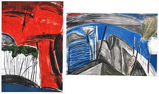 Idris Murphy (born 1949) Two Landscapes 1987 lithographs (2) 16/100, 9/100