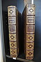 THE IMPERIAL BIBLE IN TWO VOLUMES, 1864, LEATHER BOUND WITH GILT DECORATION TO SPINE, FOLIO, WITH COPIOUS ENGRAVINGS