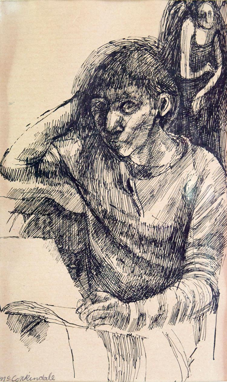 SHEILA RUTH MCCORKINDALE (South African, born 1929) Two Children 1962; Things of Drawing 1963; My Guardian Angel; Mother and Childre...