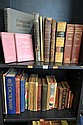 TWO SHELVES OF BOOKS INCLUDING MINING ENGINEERS HANDBOOK, CHEMICAL NEWS
