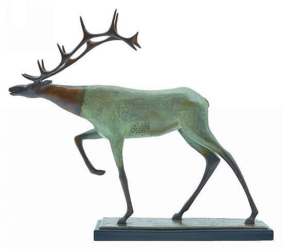ANTHONY VANDERZWEEP (born 1960) Stag 2009 bronze edition 4/6