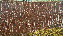 WAYNE EAGER (born 1957) Brown Kapalga 1992 diptych oil on linen