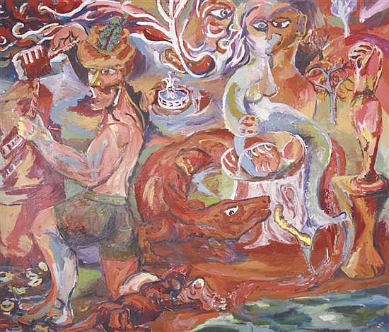 MIKE NICHOLLS (BORN 1960) Sculptor's Garden oil on canvas