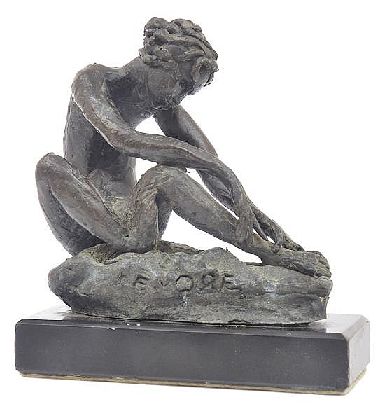 LENORE BOYD (BORN 1953) Nude Model bronze on stone base