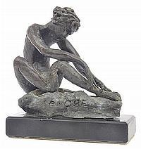 LENORE BOYD (BORN 1953) Nude Model bronze on stone base