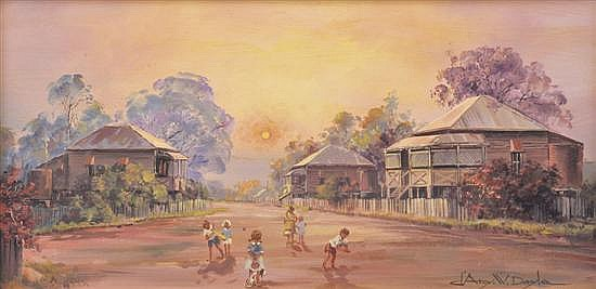 D'ARCY DOYLE (1932-2001) Country Cricket oil on canvas on board