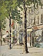 § HAYWARD VEAL (1913-1968) Brompton Road 1952 oil on canvas on board, Hayward Veal, Click for value