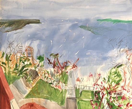 KEVIN CONNOR (BORN 1932) Sydney Harbour from the Artist's Studio 1976 oil on canvas