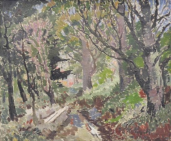 LUDMILLA MEILERTS (1908-1998) Forest oil on canvas