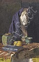 WILLIAM DARGIE (1912-2003) Draped Mask and Still Life 1935 oil on canvas on board, William Dargie, Click for value