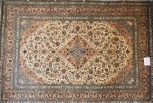 AN ORIGINAL PERSIAN KASHAN 100% WOOL PILE HAND KNOTTED RUG, ORIGIN IRAN, IN EXCELLENT CONDITION (RRP $6500)