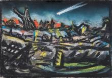 PETER BOOTH (born 1940) Comet 1987 pastel on paper