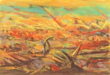 PETER BOOTH (born 1940) Drawing (Landscape) 1984 pastel on paper