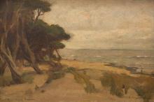 JOHN LONGSTAFF (1862-1941) Seascape 1891 oil on canvas