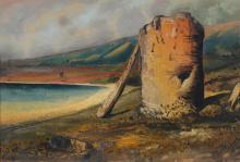 WILLIAM FORD (c.1820-1886) Mount Martha 1875 oil on board