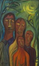 DANILA VASSILIEFF (1897-1958) Family Portrait c.1950s oil on canvas