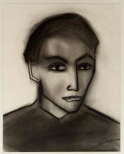 ROBERT DICKERSON (1924-2015) The Bookmaker charcoal on paper