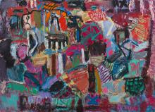 RONALD LAMBERT (1923-1995) Intrusions c.1993 oil on canvas