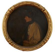 ARCHIBALD MARRIOTT WOODHOUSE (1884-1930) Portrait of a Lady oil on board