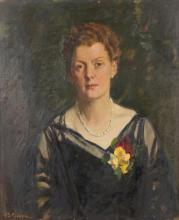 HAROLD SEPTIMUS POWER (1878-1951) Portrait of Mrs Everlyn Schafer oil on canvas