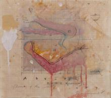 TIM STORRIER (born 1949) Adultery 1984 mixed media on paper