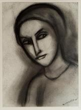 ROBERT DICKERSON (1924-2015) Deep Thought 2006 charcoal on paper