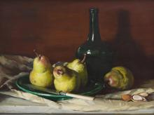HARLEY CAMERON GRIFFITHS (1908-1981) Still Life with Pears 1967 oil on board