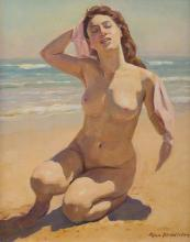 MAX MIDDLETON (1922-2013) On the Beach 2003 oil on canvas
