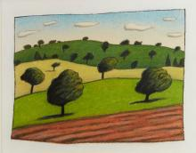REG MOMBASSA (born 1951) Freshly Ploughed Paddock pastel and gouache on paper
