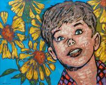 DAVID BROMLEY (born 1960) Field of Joy acrylic on canvas
