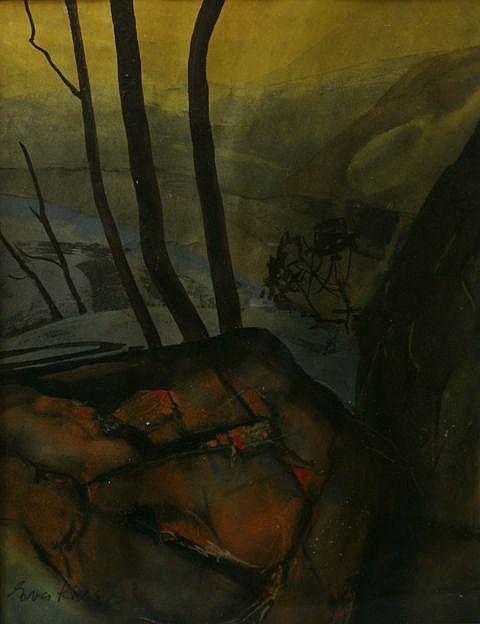 Eva Kubbos (born 1928), Shady Trees, Rocks 2