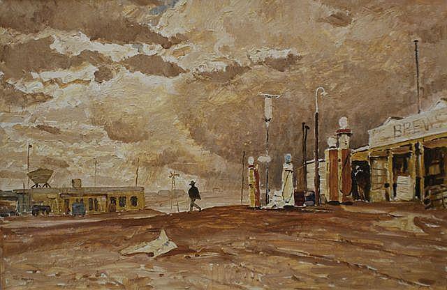 Max Ragless (1901-1981), Storm over Coober Pedy