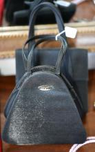 TWO BLACK EVENING BAGS
