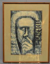 DAVID MIXED MEDIA ON PAPER, 49 x 34 cm BOYD Judge, 1963 mixed media on paper
