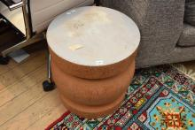 A MARK & TUCKEY STYLE TIMBER STOOL