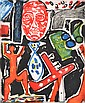 GRAHAM FRANSELLA (BORN 1950) Large Face 1985 etching 1/25