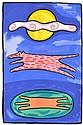 DEBORAH HALPERN (BORN 1957) Under the Moon, Over the Pond 1997 screenprint 4/65