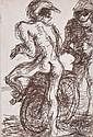 DONALD FRIEND (1915-1989) Beach Bikies 2 etching 13/50