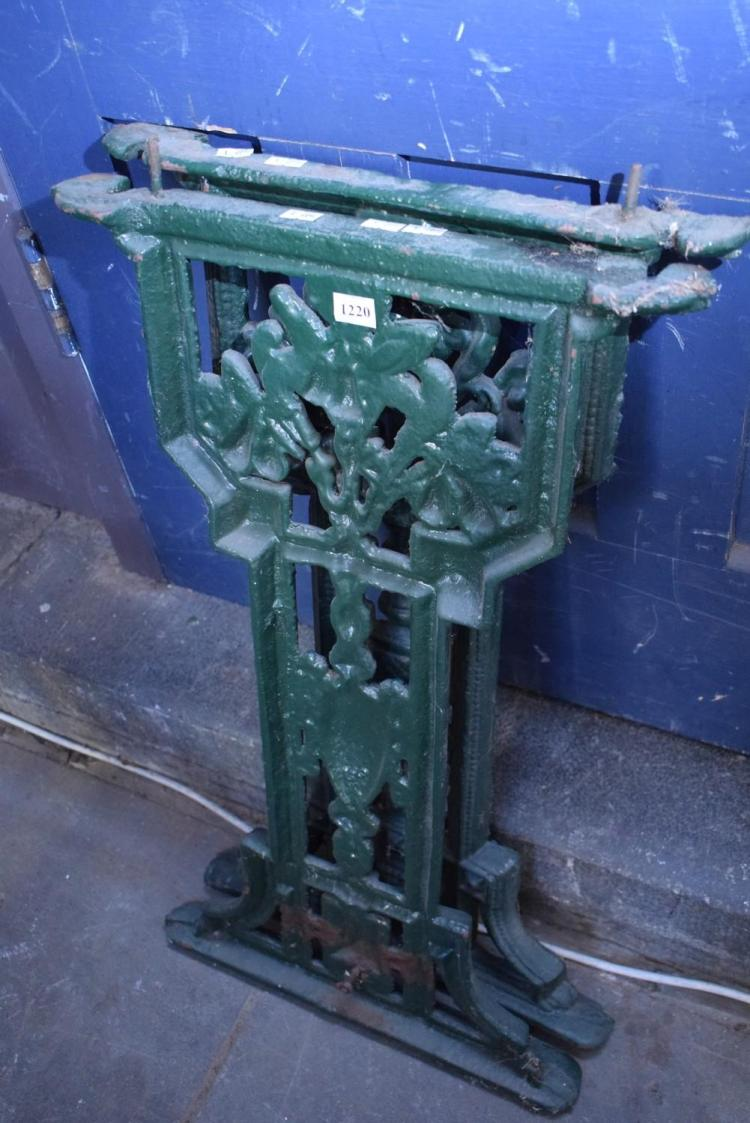 A pair of victorian cast iron table ends for Cast iron table ends