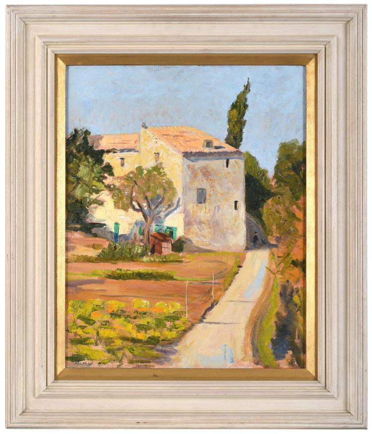 RESHED BEY (1916-1984) Farmhouse, France oil on canvas
