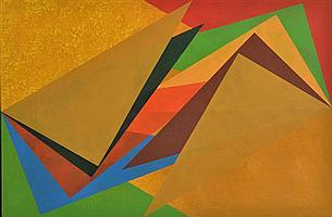 TONY WOODS (BORN 1940) Shape Movement A 1997 acrylic on canvas