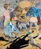 DAVID BROMLEY (BORN 1960) Moon Shadows mixed media on canvas